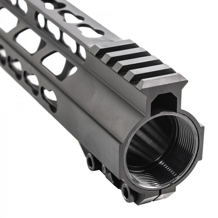 """12"""" Rifle Length Free Float Super Slim Keymod Quad Rail"""