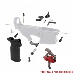 Lower Parts Kit w/ Magpul PDW Grip & Drop-In Trigger System and Anti-Walk Pins