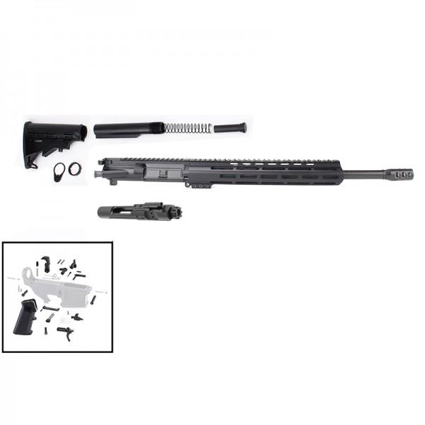 "AR .300 Blackout Rifle Build Kit with 12"" M-Lok Custom USA Made Handguard and 16"" Barrel"