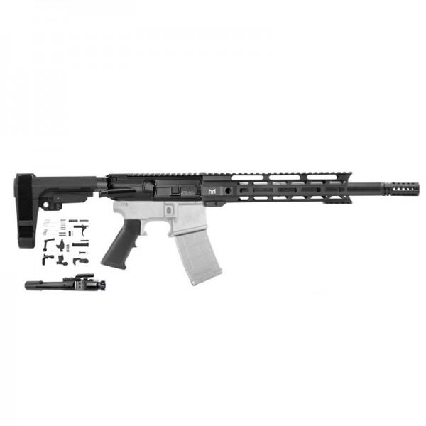 "AR .300 BLACKOUT 10.5"" PISTOL BUILD KIT W/ 10"" M-LOK HANDGUARD BCG & PISTOL SBA3 KIT"