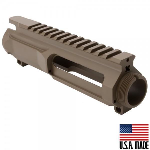 AR-15 Billet Upper Receiver Cerakote - FDE (Made in USA)