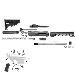 "AR10 .308 12.5"" Rifle Build Kit with 12"" Hybrid M-Lok Handgurad, Upper and Lower Part Kit"
