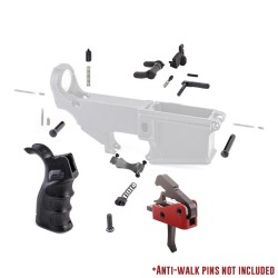 AR-10 Lower Parts Kit w/ Drop-In Trigger, Hybrid Grip, Polymer Trigger Guard