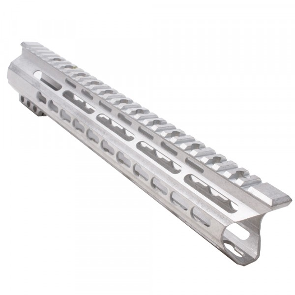 "AR-15  12"" Custom Made In USA Slim Keymod FreeFloat Handguard with ""C"" Cut -RAW- (MADE IN USA)"