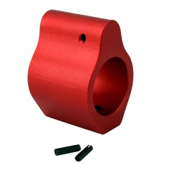 .750 Low Profile Aluminum Gas Block with Roll Pins & Wrench -Red