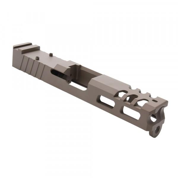 Glock 19 Custom Slides with Trijicon RMR cut out - TAN
