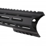 "AR-15 M-Lok 10"" Super Slim Light Free Float Handguard ""C"" Cut - Black (Made In USA)"