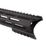 "AR-15 M-Lok 12"" Super Slim Light Free Float Handguard ""C"" Cut - Black (Made In USA)"