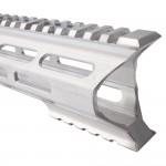 "AR-15 M-Lok 15"" Super Slim Light Free Float Handguard ""C"" Cut - RAW (Made In USA)"