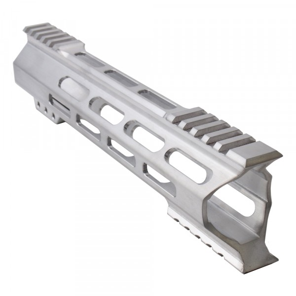 "AR-15 M-Lok 10"" Super Slim Hybrid Free Float Handguard ""C"" Cut - RAW"