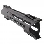 "AR-15 M-Lok 10"" Super Slim Hybrid Free Float Handguard ""C"" Cut - BLACK"