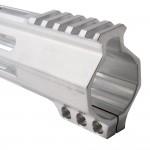 "AR-15 M-Lok 12"" Super Slim Hybrid Free Float Handguard ""C"" Cut - RAW"