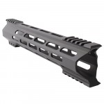 "AR-15 M-Lok 12"" Super Slim Hybrid Free Float Handguard ""C"" Cut - BLACK"