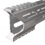 "AR-15 M-Lok 15"" Super Slim Hybrid Free Float Handguard ""C"" Cut - RAW"