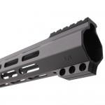 "AR-15 M-Lok 15"" Super Slim Hybrid Free Float Handguard ""C"" Cut - BLACK"