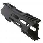 "AR-15 M-Lok 7"" Super Slim Hybrid Free Float Handguard ""C"" Cut - BLACK"