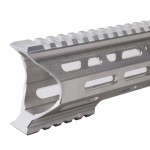 "AR-10 M-Lok 12"" Super Slim Light Free Float Handguard ""C"" Cut - RAW (Made In USA)"