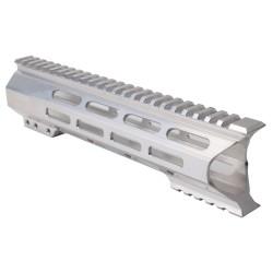 "AR-10 M-Lok 12"" Super Slim Light Free Float Handguard ""C"" Cut - RAW (Made In USA)"