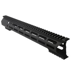 "AR-10 M-Lok 15"" Super Slim Light Free Float Handguard ""C"" Cut - Black (Made In USA)"