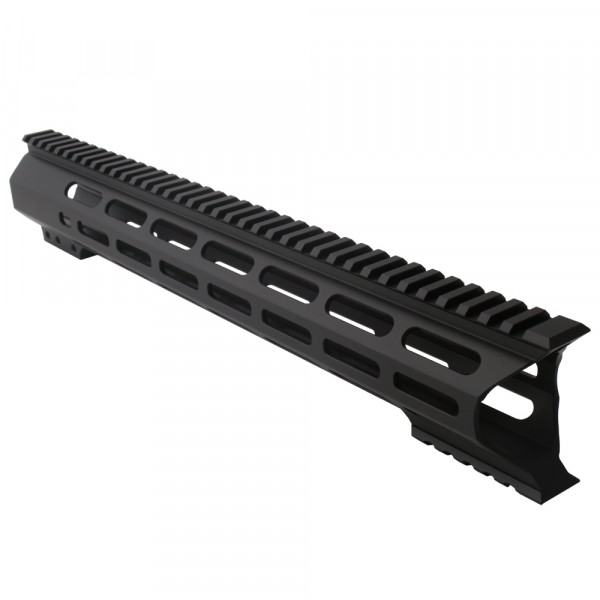 "AR-10 M-Lok 15"" Super Slim Light Free Float Handguard ""C"" Cut - Black (Made In USA)"