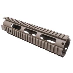 "AR-15 10"" Mid Length Free Float Handguard - Cerakote - FDE"
