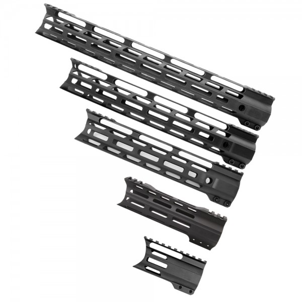 "AR-15 Hybrid M-Lok Combat  Handguard ""C"" Cut - Black (OPTIONS AVAILABLE)"