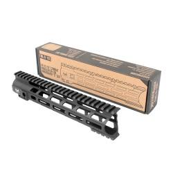 "AR-10 10"" Combat Modular M-Lok Handguard ""C"" Cut - Black"