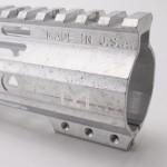 "AR-15 15"" Custom USA Made M-Lok Super Slim Light Free Float Handguard ""D"" Cut-RAW  (MADE IN USA)"