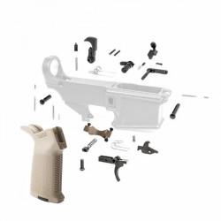 308 Lower Parts Kit w/ OD Green Magpul Grip & Trigger Guard