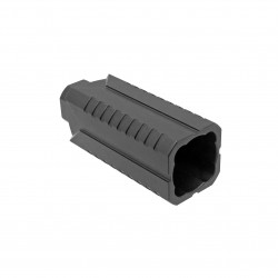 AR-15 DIVERTER MUZZLE  STEEL FLASH CAN - BLACK