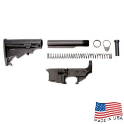AR-15 80% Anodized Lower Combo with Stock Kit (223LOWER, ST007M, ST003M)