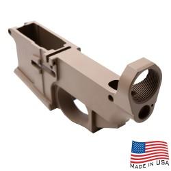 AR-15 Billet 80% Lower Receiver Cerakoted - FDE