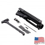 AR-15 Flat-Top Upper Receiver Kit - Made in U.S.A. - Incl. Ejection Port Kit, Forward Assist, & Charging Handle  (Unassembled)