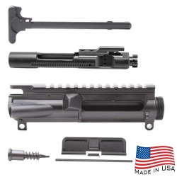 AR-15 Flat-Top Upper Receiver Kit - Made in U.S.A. - Incl. Ejection Port Kit, Forward Assist, & Charging Handle-Unassembly (223UP, ARFA, DC223, CH223, BCG-N)