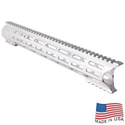 "AR-10 M-Lok 15"" Super Slim Light Free Float Handguard ""C"" Cut - RAW (Made In USA)"
