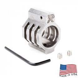 .750 Low Profile Steel Gas Block Caged with Roll Pins & Wrench -Matte Stainless Steel (MADE IN USA)