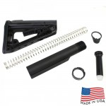 AR-15 Mil-Spec Buffer Tube Assembly w/ Rogers Super-Stoc Deluxe