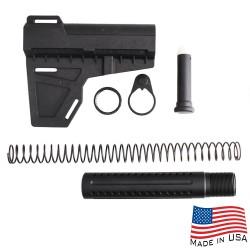 AR-15 Shockwave Blade with Custom Pistol Buffer Tube Kit (SW, T-P4, N, P, S, B30)