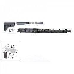"AR15 16"" RIFLE BUILD KIT W/ 15"" M-LOK HANDGUARD BCG LPK MAGPUL GRIP & STOCK  (ASSEMBLED UPPER)"