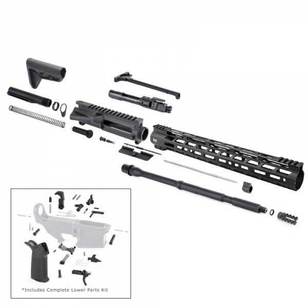 "AR15 16"" RIFLE KIT W/ 15"" M-LOK HANDGUARD BCG LPK MAGPUL FURNITURE"