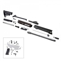 "AR .308  20"" RIFLE BUILD KIT W/15"" M-LOK HANDGUARD BCG LPK & STOCK KIT"