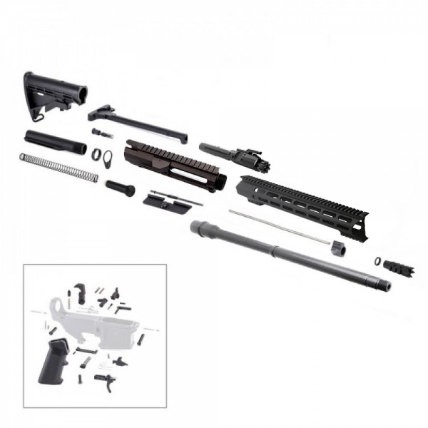 "AR .308  20"" RIFLE BUILD KIT W/15"" M-LOK HANDGUARD BCG LPK & STOCK KIT"