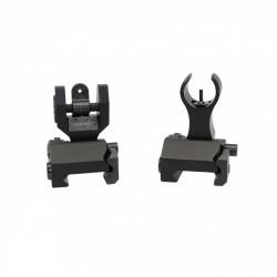 AR Front and Rear Sight Flip Up Mini