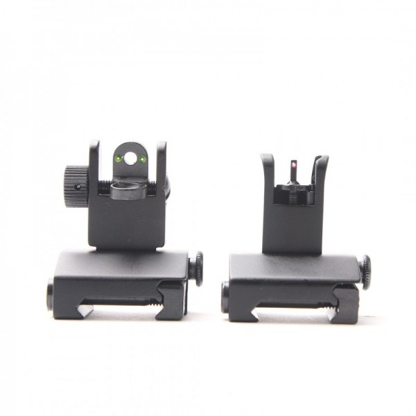 Fiber Optics Flip Up Front & Rear Sights with Red and Green Dots