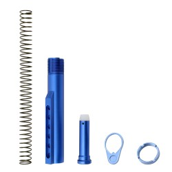 AR-15 M4 Six Position Buffer Tube Kit -Mil-Spec - Blue