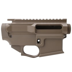 AR-15 BILLET UPPER RECEIVER W/ 80% BILLET LOWER RECEIVER CERAKOTE - FDE
