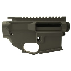 AR-15 BILLET UPPER RECEIVER W/ 80% BILLET LOWER RECEIVER CERAKOTE - OD GREEN