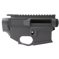 AR-15 BILLET UPPER RECEIVER W/ 80% BILLET LOWER RECEIVER CERAKOTE - SNIPER GREY