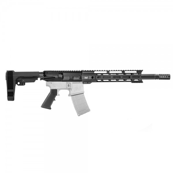 "AR .300 BLACKOUT 10.5"" PISTOL BUILD KIT W/ 10"" M-LOK HANDGUARD BCG & PISTOL SBA3 KIT"
