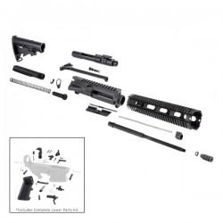 "AR 7.62X39 16"" RIFLE BUILD KIT W/ 12"" QUAD RAIL HANDGUARD BCG LPK & STOCK KIT"